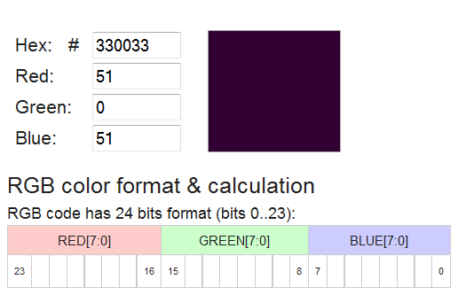RGB Color Code related to The Diagonal (specifically through