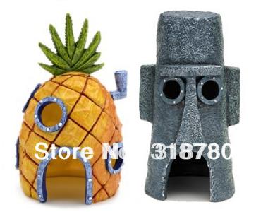 2-Pcs-SpongeBob-font-b-Pineapple-b-font-House-Squidward-Easter-font-b-Island-b-font