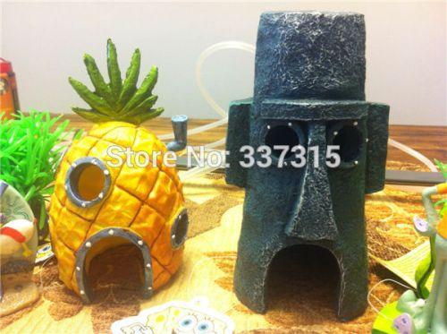 2-Pcs-SpongeBob-font-b-Pineapple-b-font-House-Squidward-Easter-font-b-Island-b-fontb