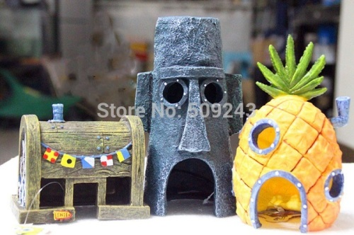 New-2PC-SET-SpongeBob-font-b-Pineapple-b-font-House-Squidward-Easter-font-b-Island-bd