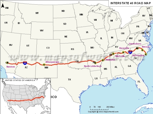 usa-interstate40-map