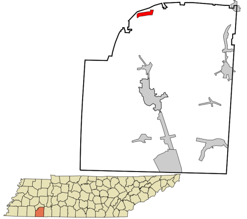 McNairy_County_Tennessee_incorporated_and_unincorporated_areas_Finger_highlighted.svg